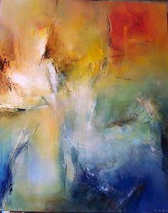 Le chant de l'aube (Painting),  81x100 cm by Françoise Vandiedonck .