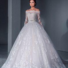 Prinsessen trouwjurk off shoulder vintage bruidsjurk op maat