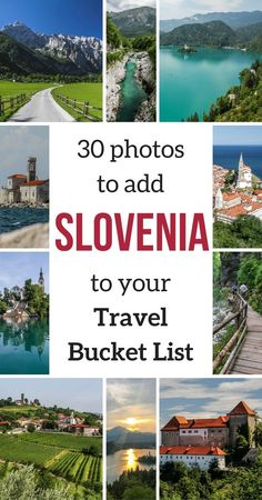 Slovenia Travel Guide - 30 photos to show you the amazing Slovenia Landscapes. Definitively a country to add to your Travel Bucket list - Get inspired! | Slovenia Things to do