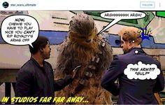 When a meets Royalty. A bit of fun {own edit} by star_wars_ultimate John Boyega, Chewbacca, Prince Harry, Far Away, Comic Strips, Royalty, Star Wars, Entertaining, Comics