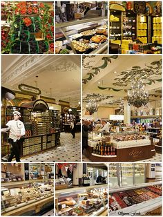 Harrod's Food Hall | London. I've been here too!  Fabulous!