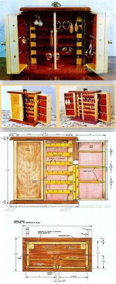 Earring Cabinet Plans - Woodworking Plans and Projects | WoodArchivist.com