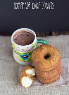 Homemade Cake Donuts | Cookie Dough & Oven Mitt