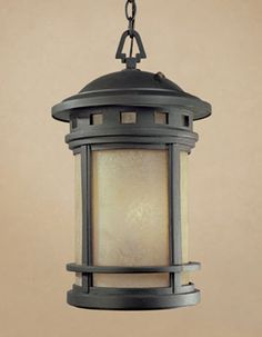 Designers Fountain Sedona Oil Rubbed Bronze Traditional Frosted Glass Lantern Pendant Light at Lowe's. Mesa outdoor lanterns feature a bold, mission style design that complements the exterior decor of any home. The amber glass works with the shape and Lantern Pendant Lighting, Wall Lantern, Outdoor Light Fixtures, Outdoor Lighting, Outdoor Lamps, Porch Lighting, Exterior Lighting, Kitchen Lighting, Lighting Ideas