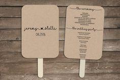 Wedding program fan template rustic wedding by AurumPrincipium