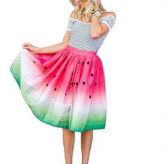 Women Printed Pleated High Waist Skirt Cotton Blend Beach Boho Hippie Dress Nice #Unbranded #Fashion #Casual