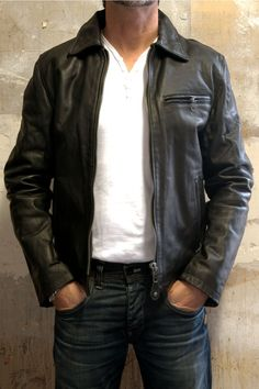 Schott Motorcycle Jacket Black LC2142 - available @ http://bootsjeansandleathers.com/ for £310