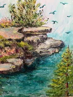 Italian Grotto by Victoria Snyder painted with a palette knife.