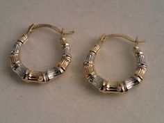 It was a double whammy garage sale of the earring variety.  These beautiful hoop earrings (2 pairs) were found at the yard sale for 50 cents a pair.  While looking them over, I noticed the 10K on the posts.  These were coming home with me.  They were in perfect condition.  Read the entire blog post at http://www.ifindtreasure.com/blog/double-whammy-gold-hoop-story/ … Good Luck and Happy Hunting ~Vicki, author of Cheap Gold and Silver