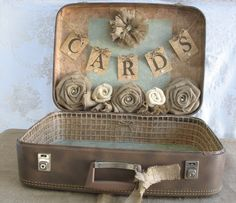 RESERVED for BRITTANY Vintage Suitcase by TheShabbyChicWedding