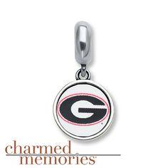 Charmed Memories Univ. of Georgia Sterling Silver
