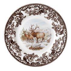 Spode Woodland, North American Animals, British Flowers, Oh Deer, Salad Plates, Winter Scenes, Earthenware, Bone China, Decorative Plates