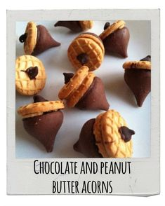 Chocolate and Peanut Butter Acorns | 17 Delicious Snacks To Make This Fall