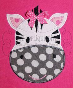 Zebra Embroidery Design Machine Applique by theappliquediva, $2.99