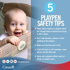 Playpens are a great way to keep a child out of harm's way while playing. Check out these tips to keep them safe:  http://healthycanadians.gc.ca/kids-enfants/infant-care-soins-bebe/playpens-parcs-eng.php?utm_source=pinterest_hcdns&utm_medium=social&utm_content=Sept16_safeplaypen_EN&utm_campaign=social_media_14
