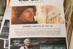 earebel arrives in the UK - PULSE London, 2015 / nun #stricken wir auch in Großbritannien mit;-)