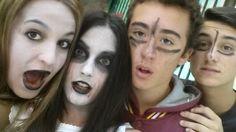 Mirad que pintas llevábamos en la Gymkana de Halloween #PI