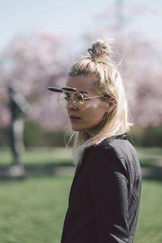 Marina the Moss: Retro Round Steampunk Mirrored Lens Flip Up Sunglasses 8966