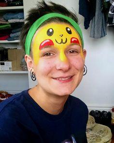 pikachu face paint - Google Search