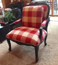$20.00 Craigslist chair after it got a country french makeover!