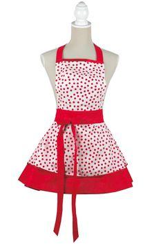Dress apron dots #zastera #apron #kuchynskazastera #retro #heartapron #pinup #kitchen #madeinslovakia #kuchyna #cukraren #pecenie #dotsapron