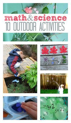 Math and science : 10 outdoor activities} perfect activities to accompany our Backyard Science Investigations eLesson: http://ecademy.playfullearning.net/backyard-science-investigations/