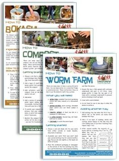 Fact Sheets (How to worm farm, compost, bokashi... etc)