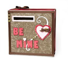 """""""Be Mine"""" Valentine's Day card box idea from #CTMH."""