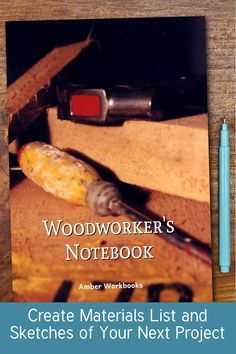 Plan your next woodworking project with the help of this note book, with a materials list and special pages for sketches to flesh out your ideas. Woodworking Journal, Woodworking Ideas, Project Planner, Sketch Design, The Help, Notebook, Sketches, Drawings, Project Life Planner