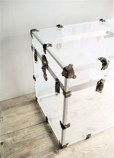 a lucite trunk? yes, please.