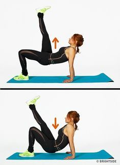 Get your sexiest body ever without,crunches,cardio,or ever setting foot in a gym Yoga Fitness, Fitness Workouts, Easy Workouts, Fitness Tips, Fitness Motivation, Yoga Workouts, Fitness Journal, Fitness Wear, Workout Routines