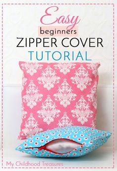 how+to+sew+a+zippered+cushion+cover