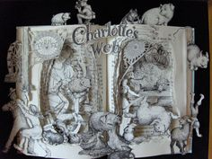 Charlotte's Web Altered Book sculpture!  This is SO unique!  I LOVE this!