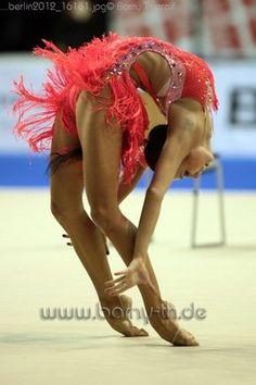 That is art, I don't care what anybody says.  Amazing.  Daria Dmitrieva. Rhythmic gymnast. Gymnastics.