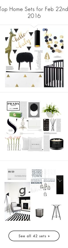 """""""Top Home Sets for Feb 22nd, 2016"""" by polyvore ❤ liked on Polyvore featuring interior, interiors, interior design, home, home decor, interior decorating, By Terry, Dream On Me, Bruck and Mitchell Gold + Bob Williams"""