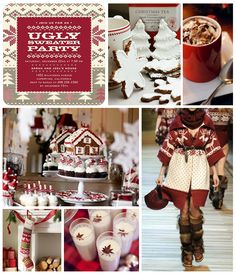 A chic spin on the ugly sweater party!