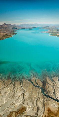Lake Tekapo in New Zealand. #beautifulvacationplaces