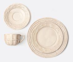 Gia Dinnerware - Soft Brown Bamboo #bluepheasant
