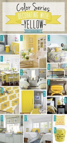 Color Series Decorating With Yellow