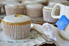 Lady Grey tea infused cupcakes & honey frosting...how smashing my dear!