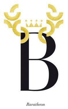 Game of Thrones typography: Baratheons