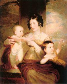 Lucretia Morse (artist's wife) And Her Children