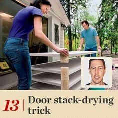 13. Door Stack-Drying Trick