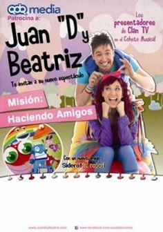 """Juan """"D"""" y Beatriz estarán en Gijón. Un espectáculo para toda la familia. ¡Sorteamos entradas! Educación en el ocio y tiempo libre infantil y familiar."""