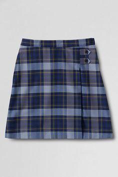 499cf7f60c20 School Uniform Girls  Plaid A-line Skirt (Below The Knee) from Lands