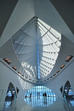 My son loves running laps in this atrium at the Calatrava...the most astonishing view and light...