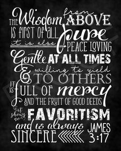 Scripture Art - James ~ Chalkboard Style Scripture Art James Chalkboard by ToSuchAsTheseDe Sign Quotes, Faith Quotes, Bible Quotes, Bible Verses, Kindness Scripture, Scripture Art, Chalkboard Print, Chalkboard Scripture, James 3