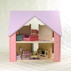 Custom Cottage Dollhouses Pink and Lavender