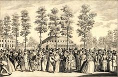 Inns and Taverns of Old London by Henry C. Shelley; Part IV: Pleasure Gardens of Old London -- Chapter 1: Vauxhall. Chapter 2: Ranelagh. (Image is of Venetian Masquerade at Ranelagh, April 26,1749)