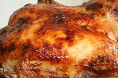 Honey Roasted Chicken - Oh Sweet Basil (To serve 2--- Divide glaze in half and cook for 25-30 minutes.